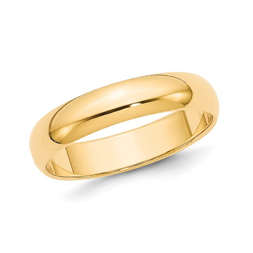 10kt Yellow Gold 5mm Polished Wedding Band