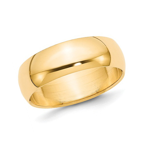14kt Yellow Gold 7mm Polished Wedding Band