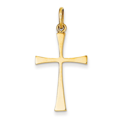 14kt Yellow Gold 1 1/8in Slender Crusader Cross
