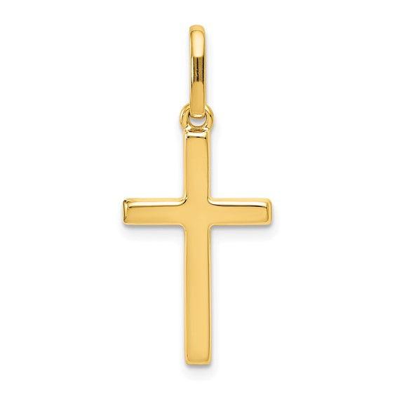14kt Yellow Gold 3/4in Hollow Latin Cross Pendant