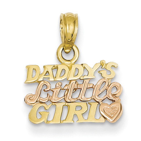 14kt Two-tone Daddy's Little Girl Pendant