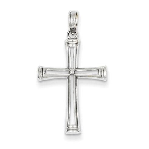 14kt White Gold 15/16in Latin Cross