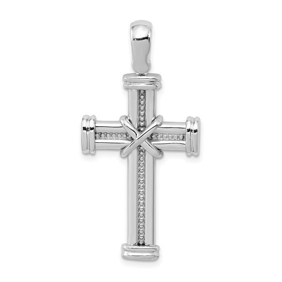 14kt White Gold 1 1/4in Latin Cross Pendant