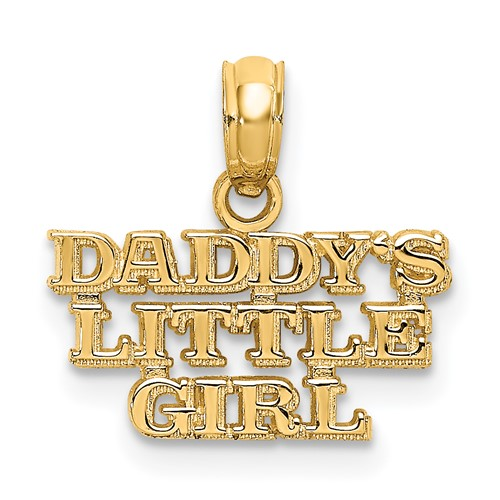 14kt Yellow Gold Daddy's Little Girl Pendant