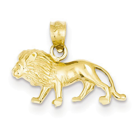 14kt Yellow Gold 3/8in Walking Lion Charm
