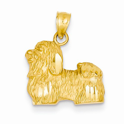 14kt Yellow Gold Shih Tzu Pendant