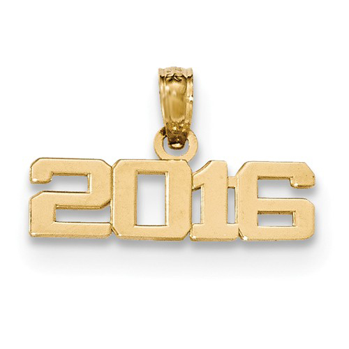14kt Yellow Gold 3/4in Horizontal 2016 Charm