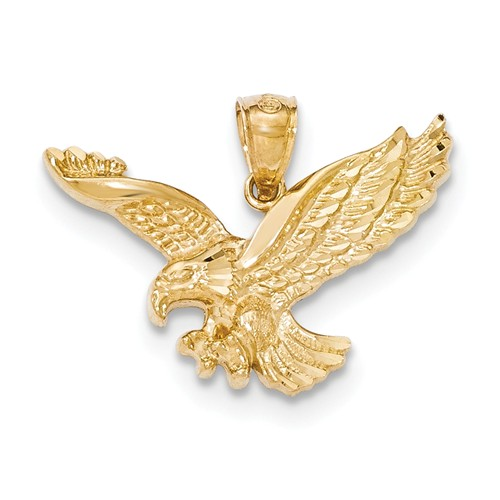 14kt Yellow Gold 3/4in Outstretched Eagle Pendant