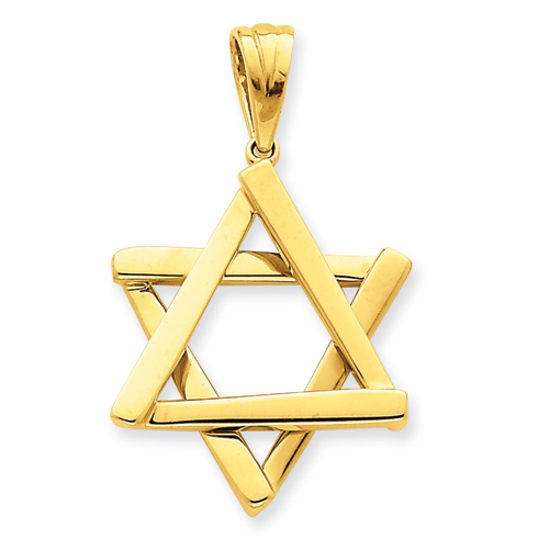 14kt Yellow Gold 1 1/8in Star of David Pendant