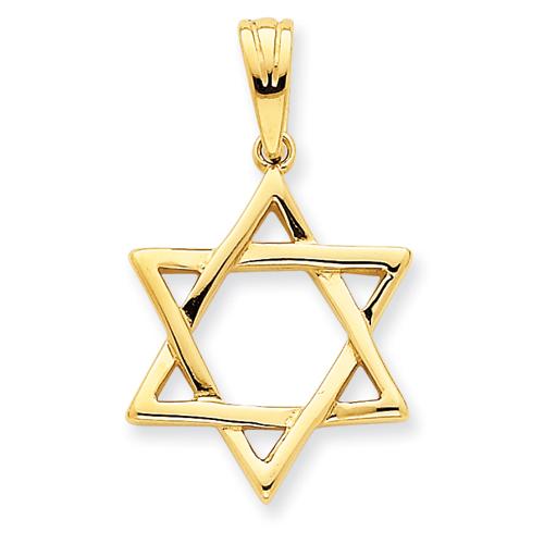 14K 7/8in Star of David Pendant