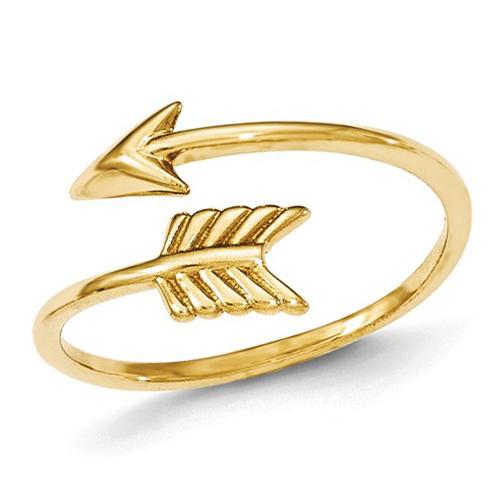 14kt Yellow Gold Adjustable Arrow Ring