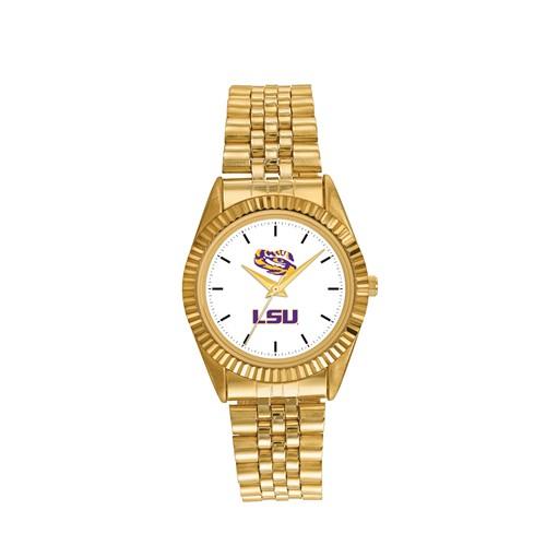 LSU Men's Pro Gold-tone Stainless Steel Watch
