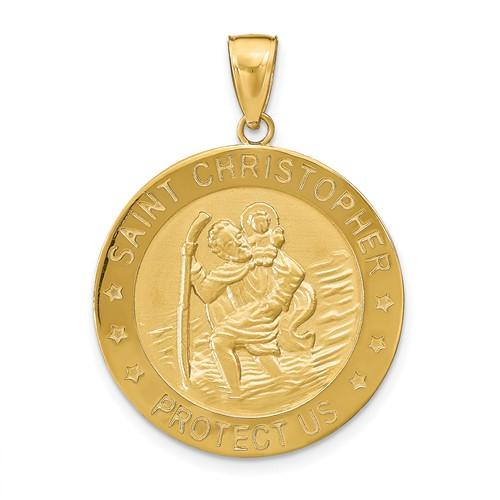 14k 1in Saint Christopher Medal Pendant