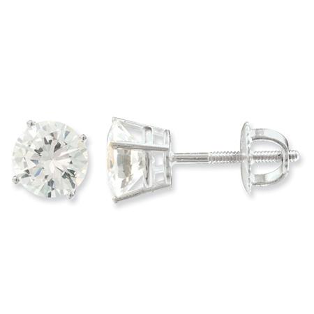 14kt White Gold 5 CT TW Forever Briilliant Moissanite Stud Earrings