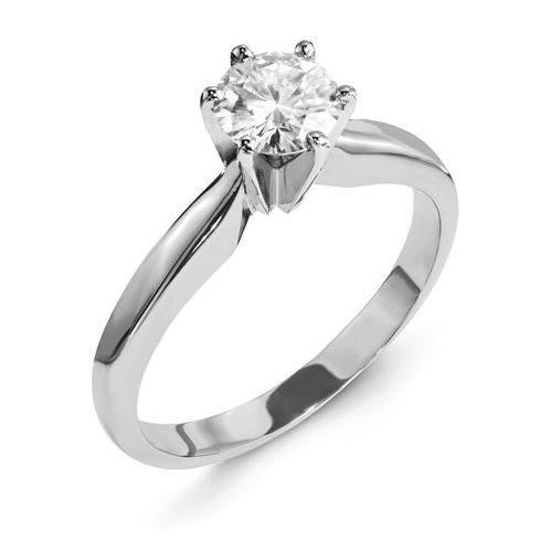 14kt White Gold 2 CT TW Forever Brilliant Moissanite Solitaire Ring