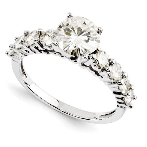 1 1/4 CT TW Forever Brilliant Moissanite Engagement Ring