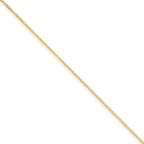 14kt Yellow Gold 18in Curb Chain .9mm
