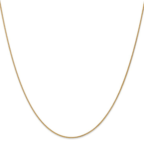 14kt Yellow Gold 18in Spiga Chain 1.1mm
