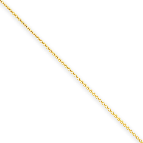 20in 14kt Yellow Gold Cable Chain .60mm