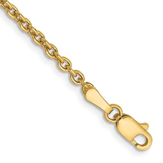 20in 14kt Yellow Gold Cable Chain 2.2mm