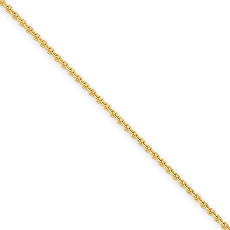 16in 14kt Yellow Gold Cable Chain 2.2mm