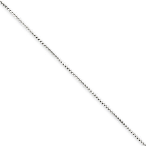 14kt White Gold 20in Spiga Chain .8mm