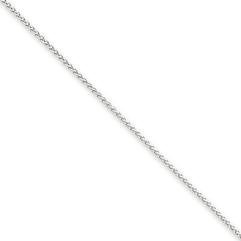 14kt White Gold 24in Spiga Chain 1mm