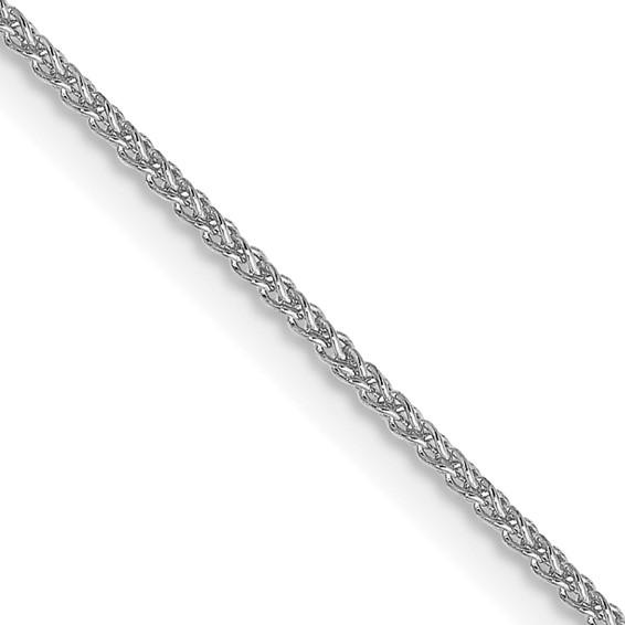 14kt White Gold 18in Spiga Chain 1mm
