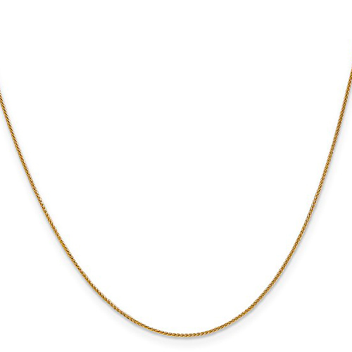 14kt Yellow Gold 24in Spiga Chain .8mm
