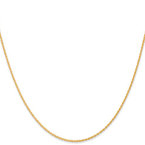 14kt Yellow Gold 24in Baby Rope Chain 1.1mm