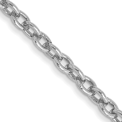 14kt White Gold 18in Cable Chain 1.9mm