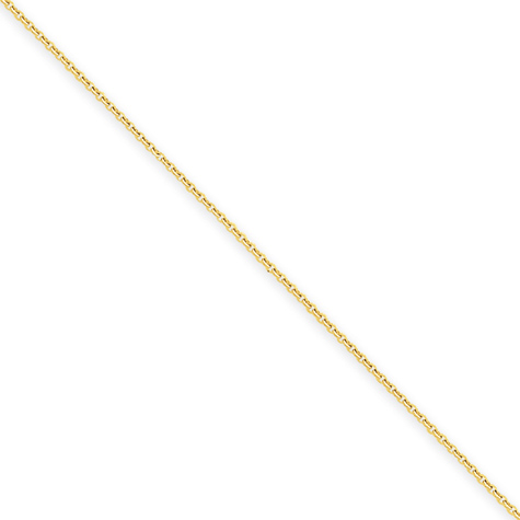 24in 14kt Yellow Gold Cable Chain .80mm