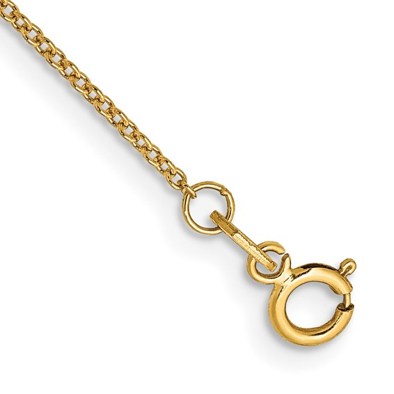 18in 14kt Yellow Gold Cable Chain .80mm