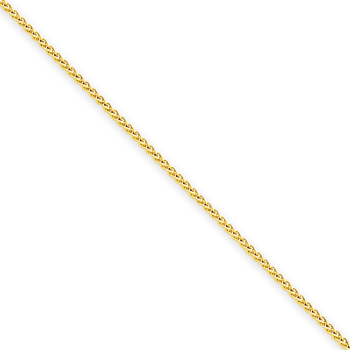 14kt Yellow Gold 20in Round Wheat Chain 1mm
