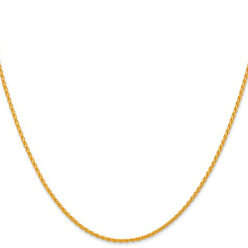 14kt Yellow Gold 16in Round Wheat Chain 1.5mm