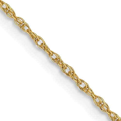 14kt Yellow Gold 18in Baby Rope Chain .8mm