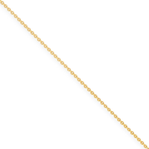 18in 14kt Yellow Gold Cable Chain 1mm