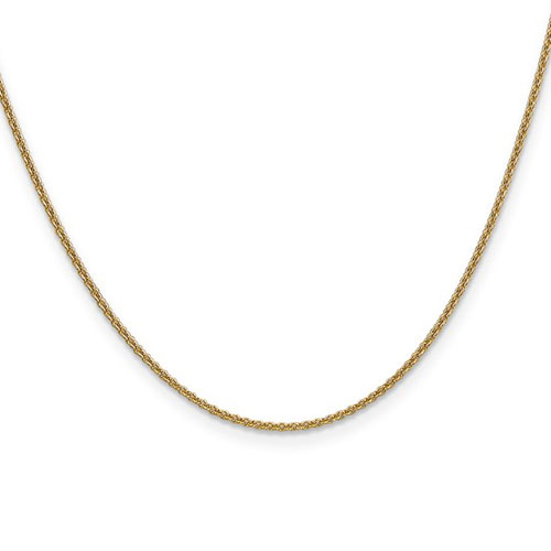14kt Yellow Gold 18in Cable Chain 1.5mm