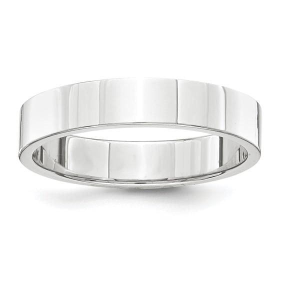 Platinum 4mm Flat Wedding Band