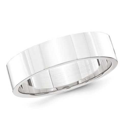 Platinum 5mm Flat Wedding Band
