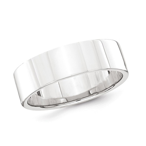 Platinum 6mm Flat Wedding Band