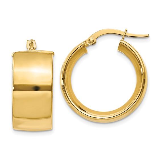 14kt Yellow Gold 5/8in Huggie Earrings 9.75mm