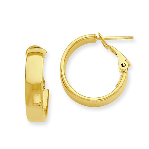 14kt Yellow Gold 5/8in Huggie Earrings 6mm