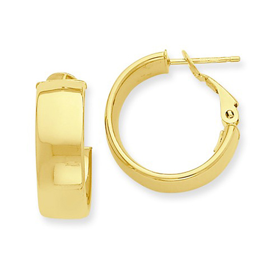 14kt Yellow Gold 5/8in Huggie Earrings 6.75mm