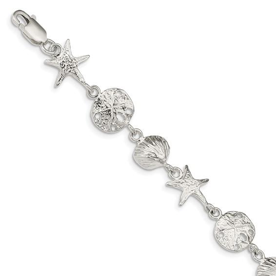 7in Seashells Bracelet - Sterling Silver