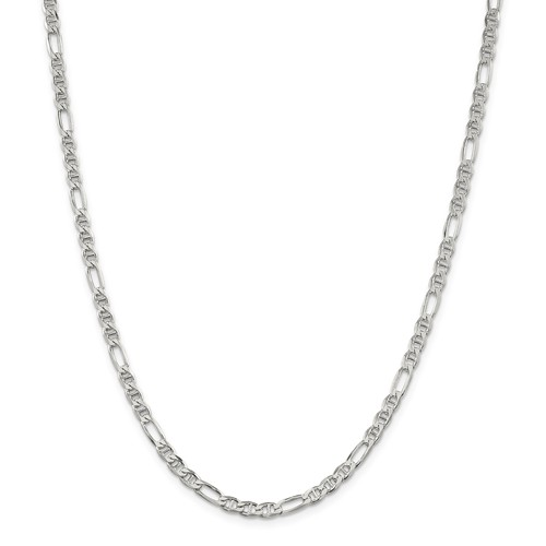 Sterling Silver 16in Figaro Chain 3.75mm