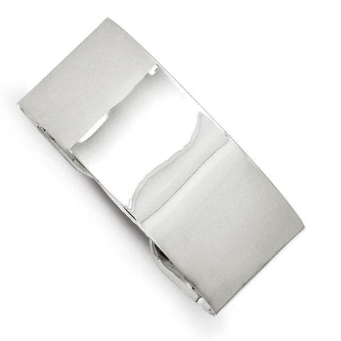 Sterling Silver 25.25mm Fancy Cuff Bangle Bracelet