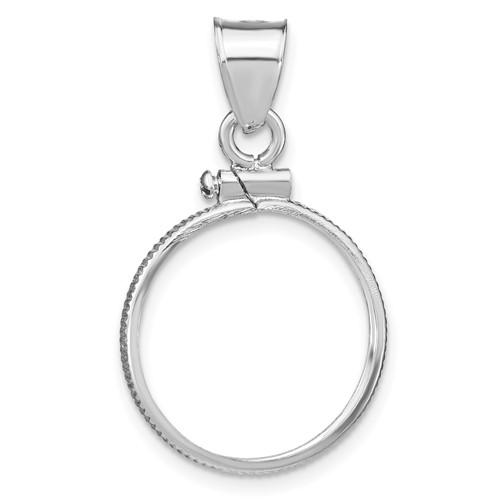 Sterling Silver Plain Dime Coin Bezel Pendant