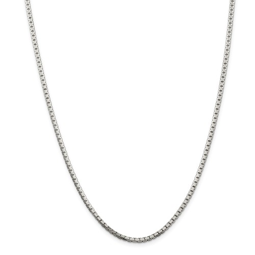 20in Sterling Silver 2.5mm Box Chain