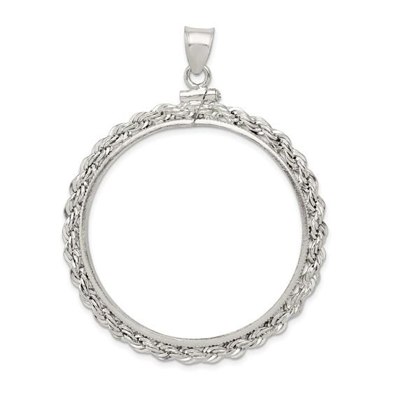 Sterling Silver Morgan Dollar Coin Rope Bezel Pendant